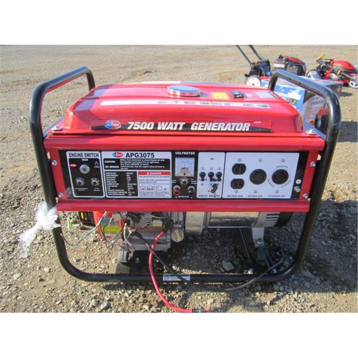 All Power 7 500 Watt Portable Generator Product Manual Apg3075