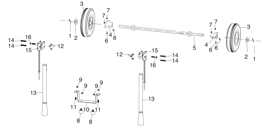 Wheel & Handle assembly